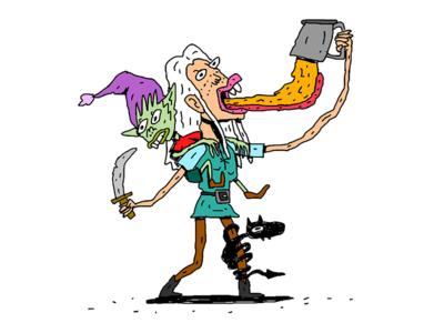 Disenchantment Fan Art illustration characterdesign characterillustration princess elfo beer tv show disenchantment fanart