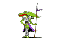 Alligator Woman Warrior