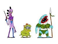 Top Secret Comic Book Character Designs