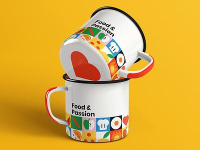 Food & Passion Cups Mockup design branding cups mockup food mockups