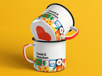 Food & Passion Cups Mockup
