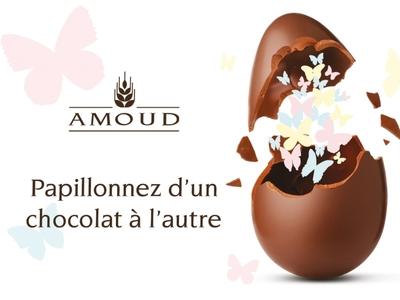 Pâques 2019- Amoud pub illustration vector design bakery