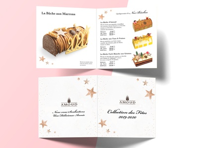 Dépliant nouvel an noel new year illustration flat typography vector bakery design