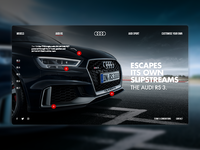 Audi RS website redesign