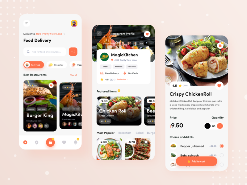 Food Delivery App menu burger restaurant app ios category meal food ux ui mobile app design product design food delivery design clean application mobile app