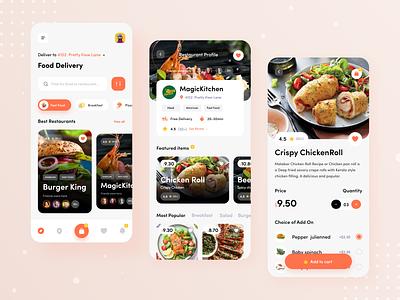 Food Delivery App menu burger restaurant app ios category meal food ux ui mobile app design product design food delivery design clean application mobile app