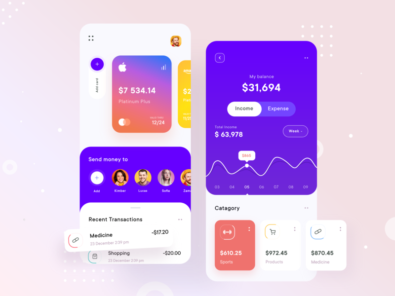 Finance App - Mobile clean app design mobile ui mobile app design ui  ux mobile app money mobile bank wallet fintech financial finance app banking bank app design app