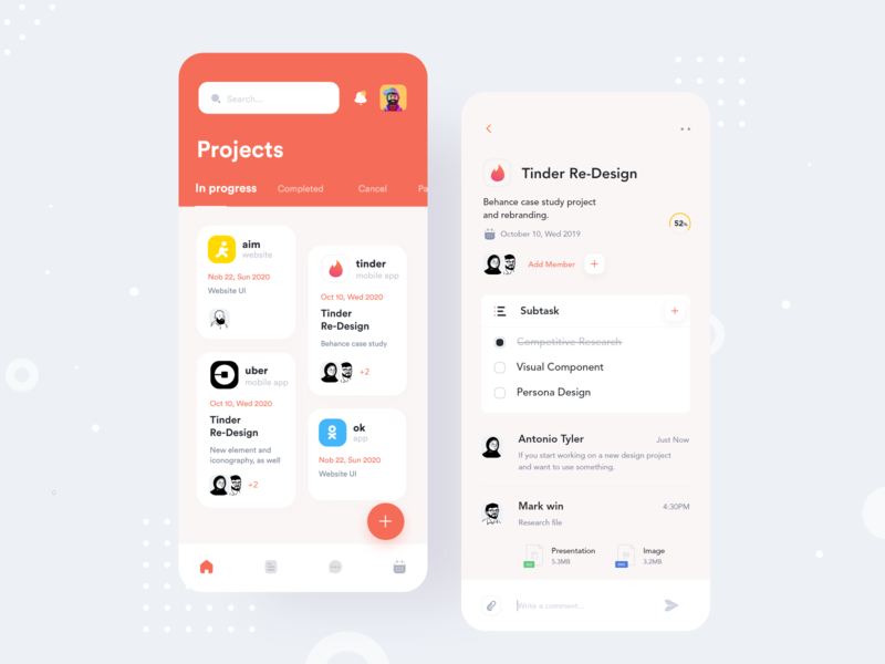 Project Management App #1 teamwork task to do project management design app app ui application design ui ux minimal app design ui  ux clean app design mobile app