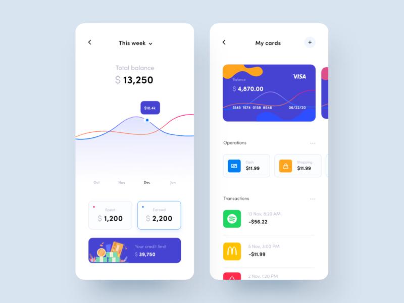 Finance Mobile app statistics budget banking app finance banking credit card finance app ui minimal app design application design ui  ux clean app design mobile app