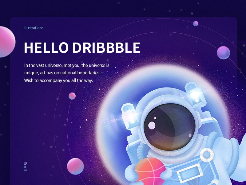 Hello Dribbble web illustrations