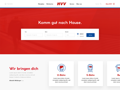 HVV Website Redesign website red redesign hvv
