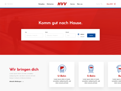 HVV Website Redesign