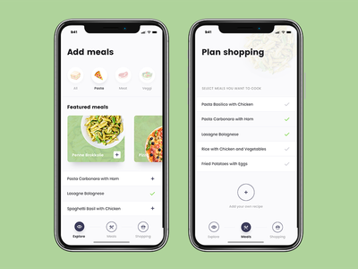 Cooky — App Design ui recipes cook food design mobile app