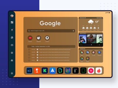 Tablet dashboard