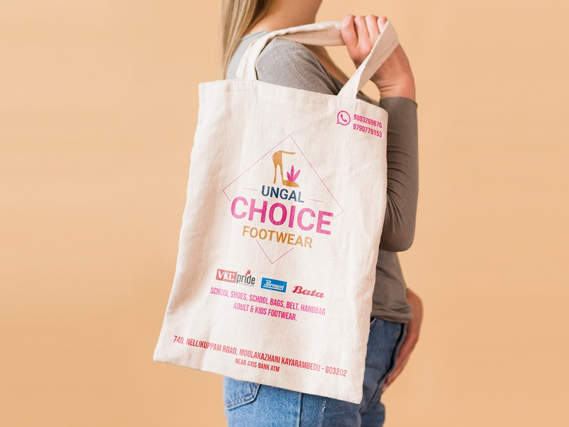 Reusable Bag vibrant colors inspiration illustraion logo icon brand identity bag