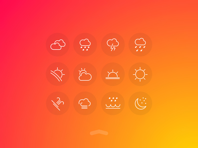 Weather UI Free Icons set weather icon-pack kit icon ux ui icons free fog drizzle cloud