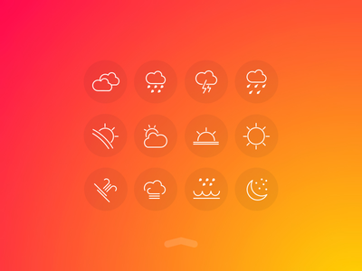 Weather UI Free Icons