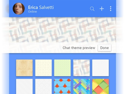 Theme options user-experience uiux profile mobile minimal-design material-design inspiration illustrations icon apps-interface application android