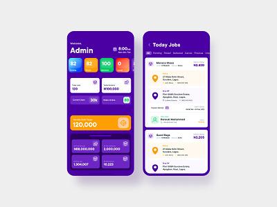 Logistic Admin App ui design user interface logistics
