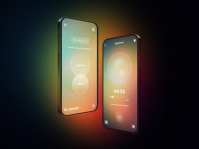 Meditate App app meditate sleep uidesign experience design ui product design ux