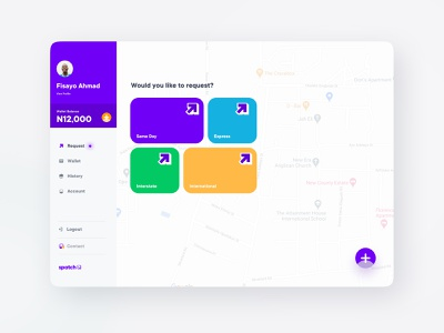 Spatch Dashboard delivery logistic logistics saas experience design uxdesign ux services identity dashboard uidesign product design