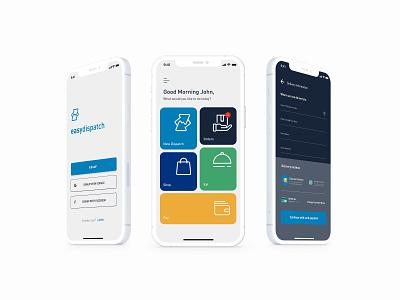 EasyDispatch delivery app logistic uiux app design visual uidesign ux product design experience ui