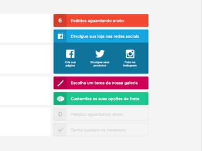Checklist sidebar checklist sidebar minestore interface web ui sketch social box list dashboard