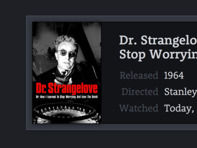 Dr. Strangelo web movie interface