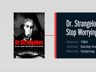 Dr. Strangelo v2 web movie interface