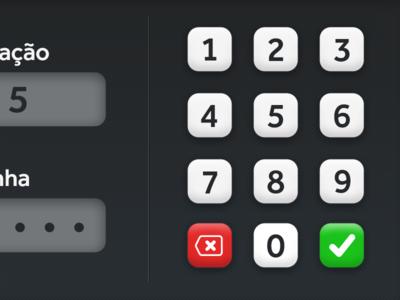 Waiter login ipad interface buttons restaurant