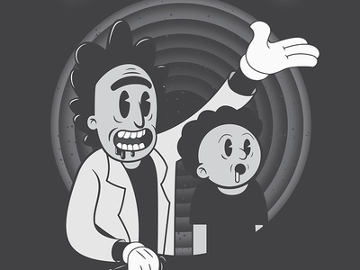 A HUNDRED YEARS SCIENCE! typography jack bloom andbloom illustration morty rick www.rickandmorty.com rick and morty