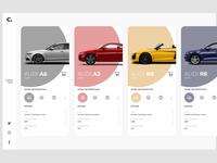 Modern car web UI