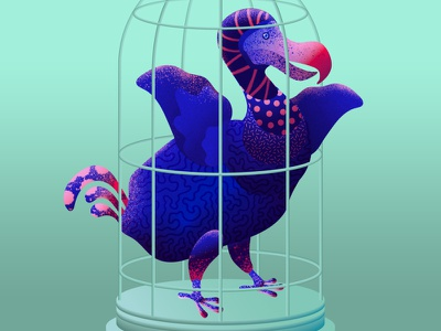 Self Isolation self portrait illustration art illustrator bird dodo corona stay home illustration