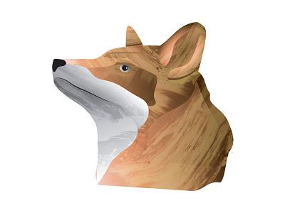Fox Head mural animal texture head fox illustration fox