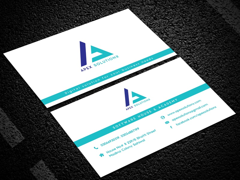Apex Solutionx Software House branding softwarehouse dribbble free freelancer upwork fiverr branding design brand design brand identity stamped letterhead letterpad design stationery design stationery double side card single card business card design businesscard