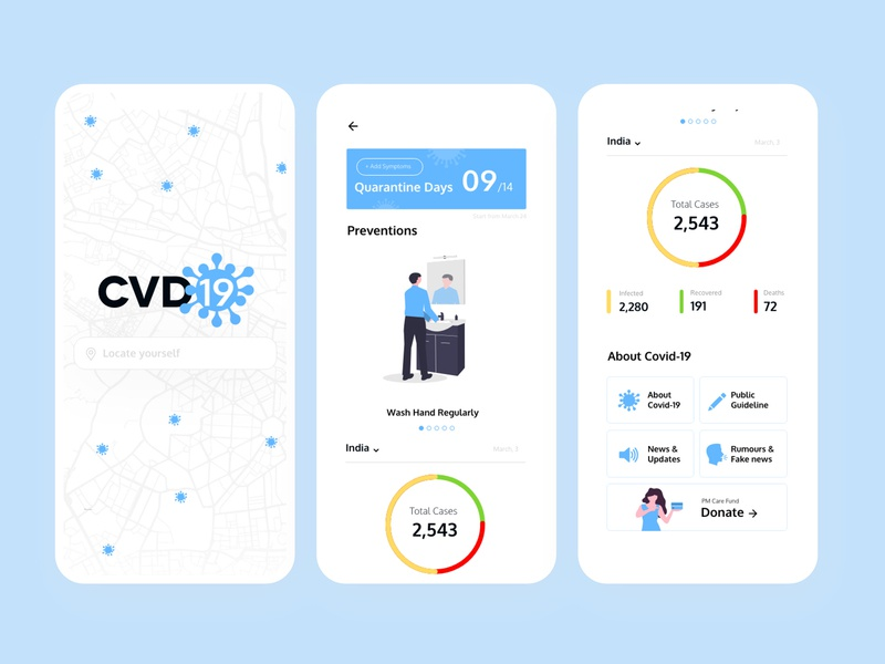 Covid-19 Home Quarantine App Concept