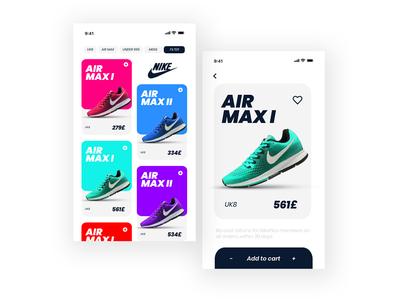 Nike Air Max Series UI