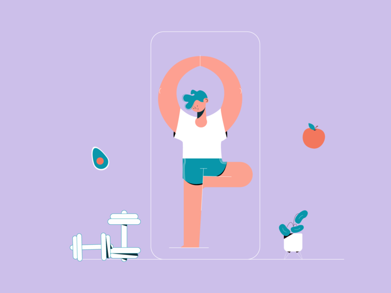 Workout app development illustration ios android app ux ui vector branding fitness club fitness logo fitness center app development workout app fitness app workout fitness mobile app mobile development design mobile app development illustration