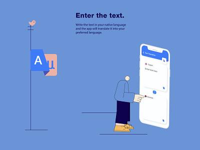 One app instead of 1000 books mobile app dictionary ux ui design app development company mobile app development illustration