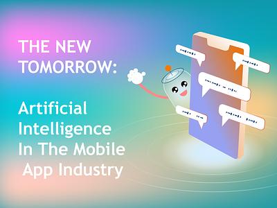 How to Build an AI App innovation robotics technology logo app art vector branding android ios design mobile app development mobile app illustration