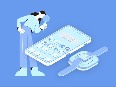 Wearable App Development apple huawei healthcare health smartwatch wearables wearable app design branding design ux ui mobile development branding android ios design mobile app development mobile app illustration