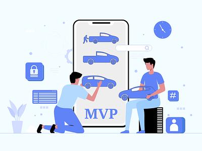 What is a MVP Development graphic design art mvp apps minimum viable product mvp development branding ui logo android ios design mobile app development mobile app illustration
