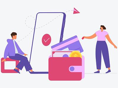 How to Make a Mobile Wallet App credit card payments ewallet mobile wallets graphic design art branding ui logo android ios design mobile app development mobile app illustration