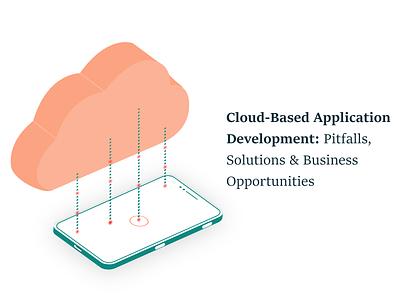 Cloud-Based Application Development cloud technology cloud app graphic design branding ui logo app development ios android design mobile app development mobile app illustration