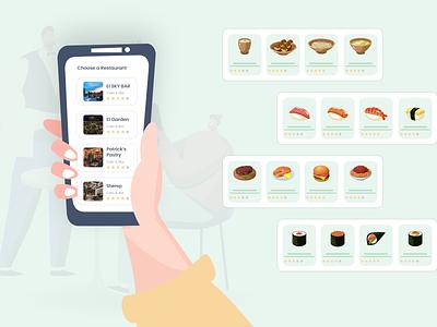 Create a Restaurant App delivery app food restaurant create a restaurant app restaurant app ios vector motion graphics branding logo graphic design ui android design mobile app development mobile app illustration