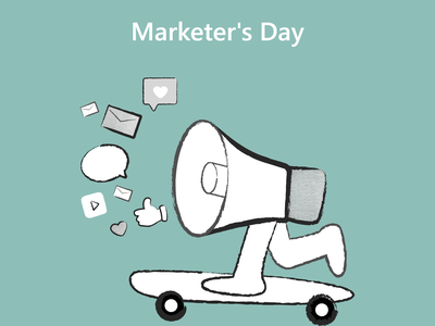 Marketer's Day marketers day motion graphics graphic design ui vector logo branding ios android design mobile app development mobile app illustration