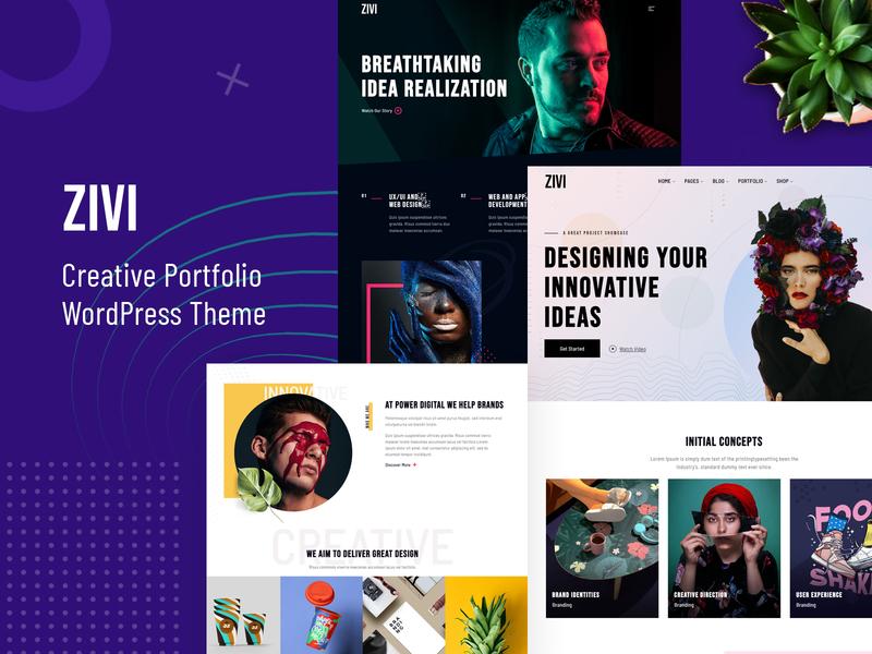 Zivi - Contemporary Portfolio Theme portfolio website portfolio site portfolio creative agency creative design agency branding design creativity creative