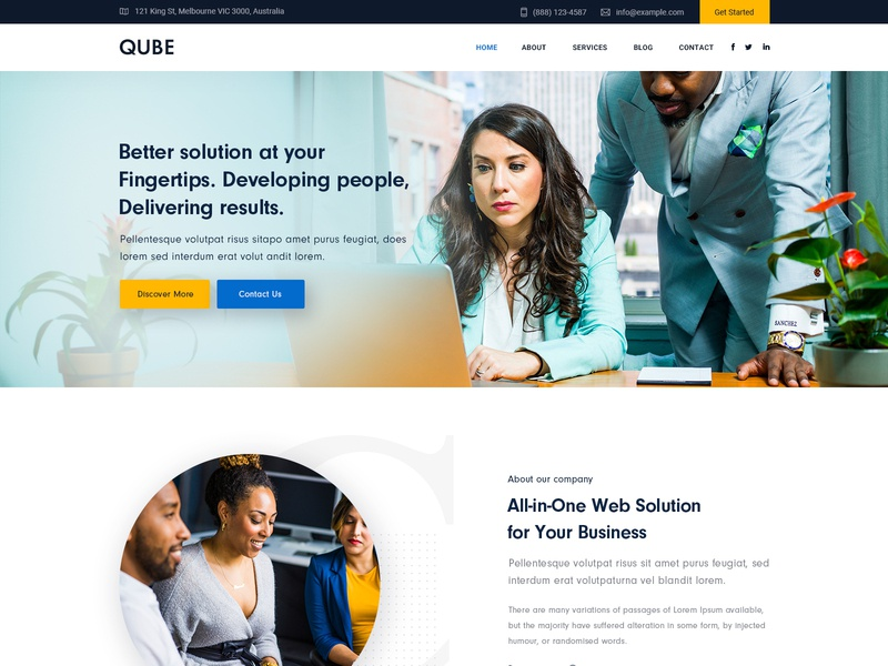 Consulting Webdesign Designs Themes Templates And Downloadable Graphic Elements On Dribbble