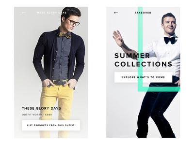 Fashion App clothes behance dribbble direction art design mobile fashion ux ui