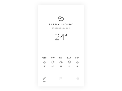 Black & White Weather sunny behance dribbble direction art design mobile weather ux ui